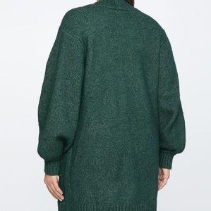 Eloquii Sweaters - Eloquii Green Boyfriend Cardigan